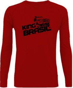 CAMISETA STYLE KING BRASIL - OFF ROAD VERMELHO/PRETO
