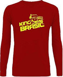 CAMISETA STYLE KING BRASIL - OFF ROAD VERMELHO/FLUORESCENTE