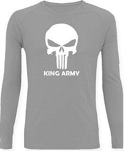 CAMISETA STYLE KING BRASIL - ARMY CINZA/BRANCO