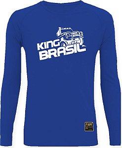 CAMISETA STYLE KING BRASIL - OFF ROAD AZUL/BRANCO