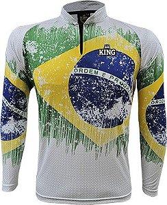 CAMISETA DE PESCA KING BRASIL - KFF659