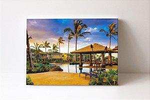 Quadro em Canvas Foto Piscina na Cabana