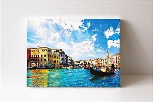 Quadro em Canvas A Ponte de Rialto o Grande Canal na cidade italiana de Veneza