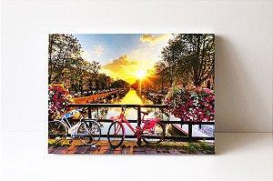 Quadro em Canvas Primavera em Amsterdã temporada de tulipas