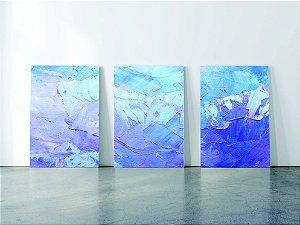 Kit 3 quadros em Canvas Azul