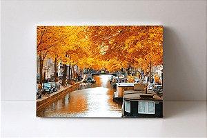 Quadro em Canvas outono em Amsterdam Holanda