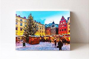 Quadro em Canvas centro histórico da cidade de Estocolmo na Suécia