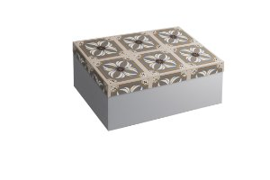 Caixa Retangular azulejo
