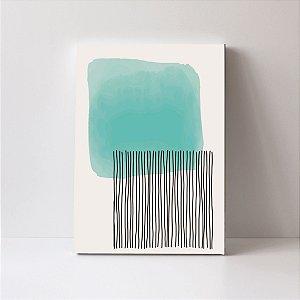 Quadro em Canvas Abstrato Moderno Colors Risco Preto