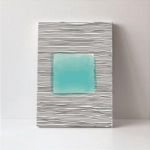 Quadro em Canvas Abstrato Moderno Colors Verde