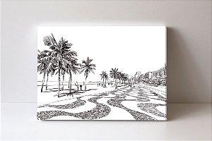 Quadro em Canvas Copacabana Ilustração