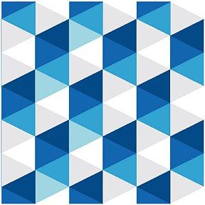 Adesivo de Azulejo Geometrico Azul