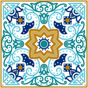 Adesivo de Azulejo Vibrante Moroccos