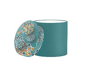 Caixa Redonda Floral 3D