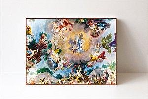 Quadro em Canvas Afresco Caserta Royal Palace