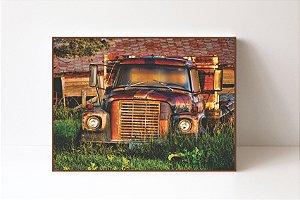 Quadro em Canvas Caminhão de Fazenda Antigo