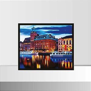 Quadro 26 x 31 Estocolmo, Noite, Suecia