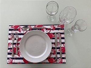 Jogo Americano Flamingo Rosa