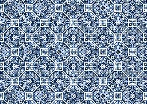 Jogo Americano Abstrato Azul