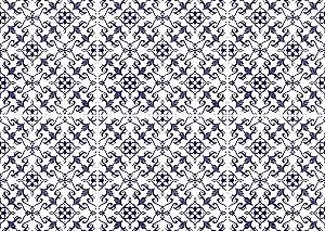 Jogo Americano Abstrato Azulejo Fundo Branco