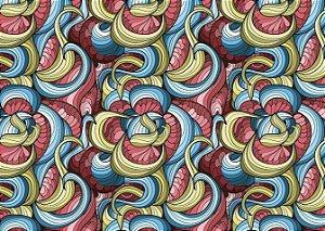 Jogo Americano Abstrato Colorido em Curvas