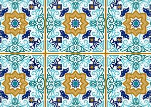 Jogo Americano Estilo Azulejo