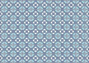 Jogo Americano Abstrato Azul 2