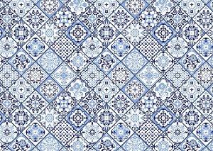 Jogo Americano Abstrato Azul 3
