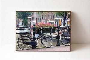 Quadro em Canvas Bike Canal de Amsterdan