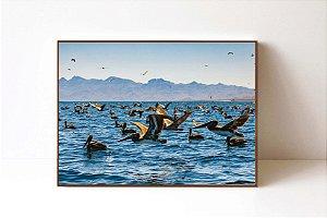 Quadro em Canvas Migração de Aves