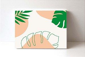 Quadro em Canvas Folhas