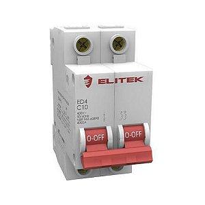 Disjuntor Bipolar Elitek - 16A, 25A, 50A, 63A