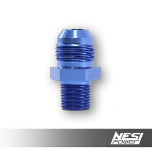 Niple 10AN x 3/8NPT Azul - NesiPower
