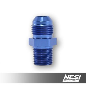 Niple 8AN x 3/8NPT Azul - NesiPower