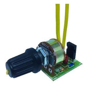 Controlador Eletrônico Dimer Dimmer 600w Com Chave Db00 Pto