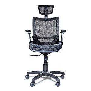 Cadeira de escritório em tela modelo metro head