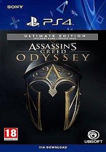 ASSASSINS CREED ODYSSEY ULTIMATE EDITION PS4 PORTUGUÊS MÍDIA DIGITAL