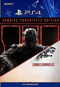 CALL OF DUTY BLACK OPS III EDIÇÃO ZOMBIES CHRONICLES PS4 MIDIA DIGITAL