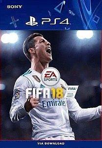 FIFA 18 PORTUGUÊS PS4 MÍDIA DIGITAL