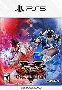 STREET FIGHTER V CHAMPION EDITION PS5 PSN MÍDIA DIGITAL