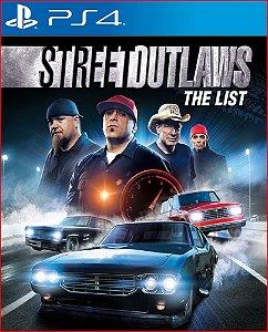 STREET OUTLAWS THE LIST PS4 MÍDIA DIGITAL