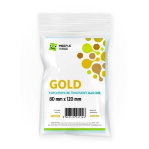 Sleeves Gold 80 x 120 mm (Blue Core)