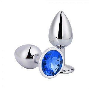 Plug Anal Luxo Jóia - Azul Escuro