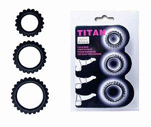 Titan - kit com 3 anéis penianos