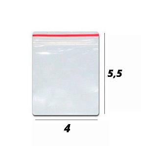 Saco plástico zipLock 4x5,5 - Com 100 unidades
