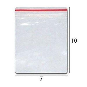 Saco plástico zipLock   7x10 - Com 100 unidades