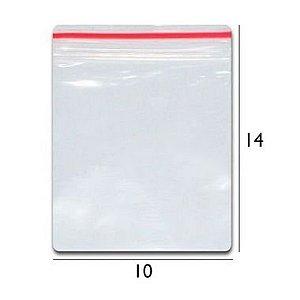 Saco plástico zipLock  10x14 - Com 100 unidades