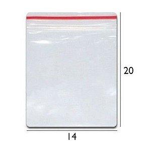 Saco plástico zipLock  14X20 - Com 100 unidades