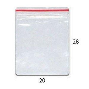 Saco plástico zipLock  20x28 - Com 100 unidades