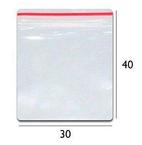 Saco plástico zipLock  30x40 - Com 100 unidades